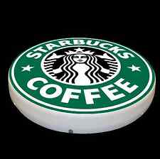 STARBUCKS LARGE LED 2FT ILLUMINATED COFFEE WALL LIGHT BADGE SIGN LOGO EMBLEM