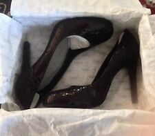 BRAND NEW OH DEER WOMENS RIBBON HIGH HEEL SHOES BLACK SEQUINS COCKTAIL PUMPS 7.5