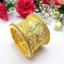 Indian Asian Size:2.6 Pakistani Bridal Jewellery 22ct Gold Plated Bracelet /Kada