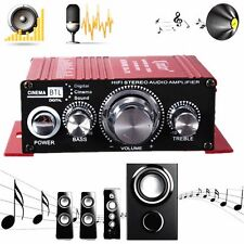 Mini 2 Channel Hi-Fi Subwoofer Stereo Audio Amplifier Amp Car Motorcycle Speaker
