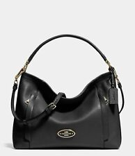 Coach Scout Black Pebble Leather Hobo Shoulder Crossbody Bag Purse NWT 34312