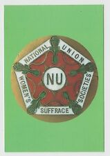 MODERN POSTCARD - political suffragettes, National Union Women's Suffrage badge