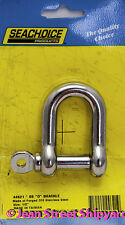 Boat Marine Stainless Steel 1/2 in Anchor D Ring Shackle Clevis Seachoice 44621
