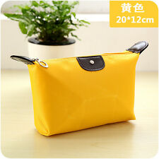 Yellow  Multifunction Portable Travel Cosmetic Makeup Bag Toiletry Case Pouch