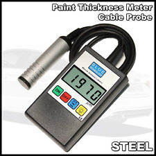 Digital Car Paint Thickness Coating Gauge Meter Tester STEEL Cable probe EU Prod