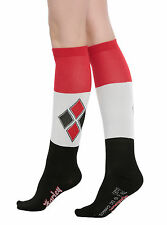 Suicide Squad DC Comics Harley Quinn Knee High Socks Diamond Logo Ladies SZ 9-11