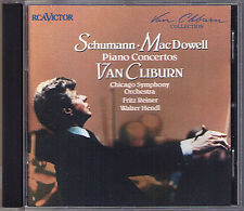 VAN CLIBURN: SCHUMANN & MacDOWELL Piano Concerto To a Wild Rose REINER HENDL CD