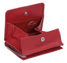 Caja de Viena formato de identificación Jockey Club en real-cuero, rojo