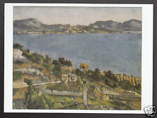 PAUL CEZANNE Gulf of Marseille Seen from L'Estaque ART ARTWORK PAINTING POSTCARD