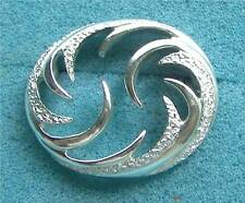 """CAROUSEL"" Silver Tone Circle Pin - Sarah Coventry Jewelry - Sara Cov - Vtg"