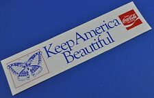 COCA COLA COKE ADESIVO USA 1980er sticker decal-Keep America beautiful