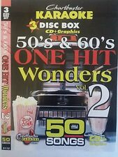 CHARTBUSTER KARAOKE CDG  50s & 60s ONE HIT VOL 2  (5113) 3 DISCS 50 TRACKS   NEW