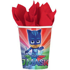 PJ MASKS 9oz PAPER CUPS (8) ~ Birthday Party Supplies Drinking Beverage Disney