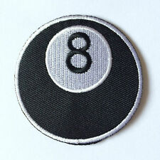 Embroidered 8 Ball Pool Billiards Iron on Sew on Patch Badge