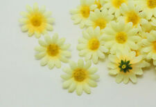 NEW 20PCS mix yellow Gerbera Daisy Heads Artificial Silk Flowers Wedding Dia 4cm