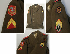 (PRL) CAPPOTTO DIVISA WW II FORZE ARMATE COLLEZIONE UNIFORM OVERCOAT PATCH ARMY
