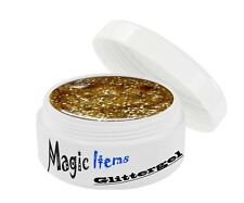 UV GEL 5 ml GLITTERGEL GLITTER LIGHT-GOLD 30