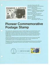 POINEER JUPITER,1ST DAY ISSUE FEB 28,1975,US STAMP SHEET S58