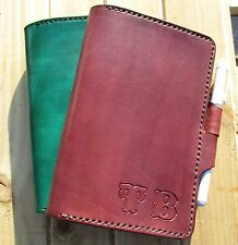 Personalized Leather Journal. Custom Handmade Diary,book Cover A6,C6 Field Notes