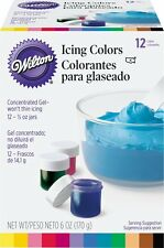 Wilton 601-5580 1/2-Ounce Certified-Kosher Icing Colors, Set of 12 by Wilton NEW