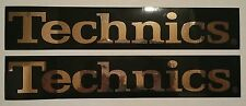 Set of Two (2) TECHNICS Stickers Black & Gold - Authentic - Turntables 1200
