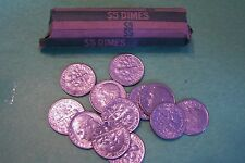 1966 Roosevelt Dime Roll - 50 Coins
