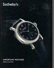 SOTHEBY'S Geneva WATCH Breguet Cartier IWC LeCoultre Patek Rolex Catalog 2013