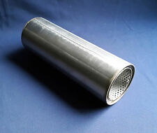 "76mm bore (3"") 4"" Round x 10"" Long Universal Stainless steel exhaust silencer"