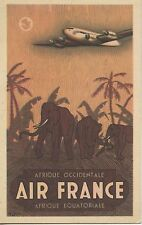 CARTE POSTALE / POSTCARD / AIR FRANCE / AFRIQUE /  RESEAU AERIEN MONDIAL