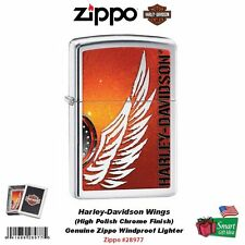 Zippo Harley-Davidson Wings Lighter, High Polish Chrome, Windproof #28977