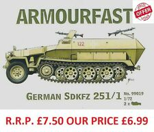 NEW Armourfast 1/72 Sdkfz 251/1 Halftrack  Model Kit - Contains 2 Items (14073)