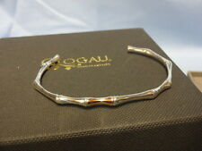 Welsh Clogau Sterling Silver & Rose Gold Bamboo Bangle RRP £260