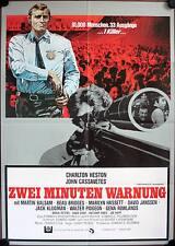 Zwei Minuten Warnung Two-Minute Warning Filmposter A1 Charlton Heston Cassavetes
