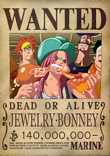 POSTER A4 PLASTIFIE-LAMINATED(1 FREE/1 GRATUIT)*MANGA ONE PIECE WANTED BONNEY.