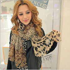 2014 Fashion New Popular Leopard Print Chiffon Shawl Scarf for Ladies and Girls