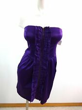WISHES WISHES WISHES WOMENS PURPLE SATIN STRAPLESS DRESS JRS SIZE 9