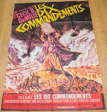 RARE !!! Affiche de cinéma : LES DIX COMMANDEMENTS de CECIL B. DE MILLE