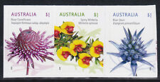 2015 Australian Wildflowers - Strip of 3 Booklet Stamps