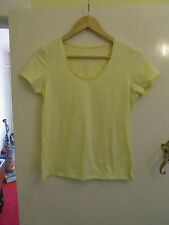 Yellow Primark Stretch Cotton T-Shirt / Top in Size 14