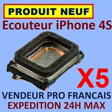 ✖ LOT DE 5 MODULES ECOUTEURS HAUT PARLEUR INTERNE IPHONE 4S ✖ NEUF GARANTI 24H