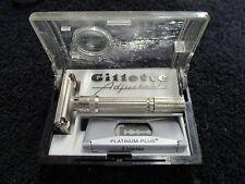 H4 Gillette fat boy adjustable safety razor Used condition. w. box & platinum