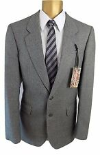 "MR HARRY Classic Edition Grey 2 piece suit Ch38"" W30"" L31"" Pure New English Wool"