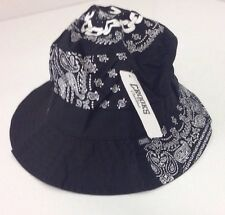 NEW With Tag Crooks & Castles White Black Paisley Bucket Hat size Small $36