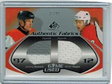 2003-04 SP GAME USED JEREMY ROENICK & SIMON GAGNE DUAL PATCH JERSEY 23/99 FLYERS