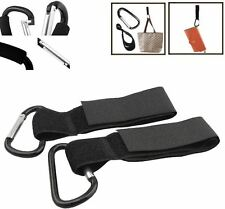 2 x Universal Mummy Buggy Clip Pram Pushchair Stroller Hook Shopping Bag Clip