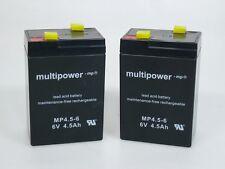 2 x Multipower MP4.5-6  6V 4,5 Ah | Blei-AKKU | **NEU mit Rechnung**