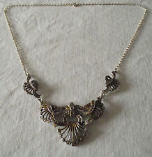 Beautiful Art Deco Silver Necklace with Marcasite Stones