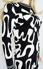Vtg 1960's Mr. DiNo PsYcHeDeLiC Op ArT Optic HiPPiE MoD MiNi Couture Dress S 10