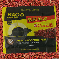 1 x 500g RODENTICIDE RAT & MOUSE POISON BAIT KILLER PACK SACHETS