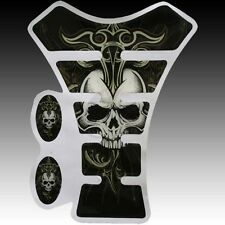 Tank Pad Protector Decal Stylish COOL SKULL Gas for Kawasaki Yamaha Honda Suzuki